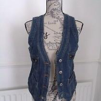 Redherring Blue Denim Waistcoat Size 12 Excellent Condition Photo