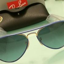 Reduce Price Ray Ban Sunglasses Blue Leather Frame Photo