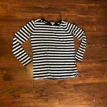 Reduced 2 Shipping Women's Gap Navy/white Striped T-Shirt Size Xs/s  Photo