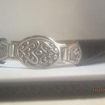Reduced Beautiful Vintage Fossil Faux Croc Leather Belt W/silver Details Photo