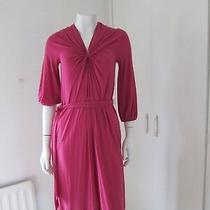 Reduced -- - Dkny Donna Karan New York Magenta Dress - Size P Uk/10  (Rrp 225) Photo