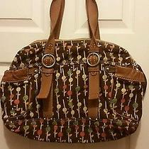 Reduced  for My Watchers-Gorgeous Fossil Weekender Duffle- -Multi-Colors-19x12x5 Photo
