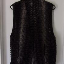 Reduced - Grace Element Faux Fur Sweater Vest - L/xl Photo