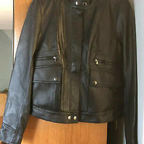 Reduced Ralph Lauren Lamb Leather Jacket- Black- Womens Size Xs - Nwt Photo