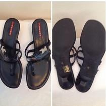 Reduced to 169.99 Prada Sport Black See Through Thong Sandal Sz 39/us9 Photo