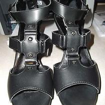 Reduced Vera Wang Platform Strappy Heel - Black- 8 1/2 Photo