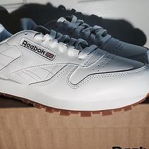 Reebok 49797cl Lthr Classic Leather Gum-Sole All-White Comfort Walking Shoe Men Photo