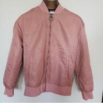 Reebok Adidas Nike Vintage Bomber Track Jacket Blush Rose Pink Small Photo