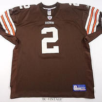 Reebok Authentic Vintage Cleveland Browns Sewn Tim Couch Nfl Jersey 52 18022 Photo