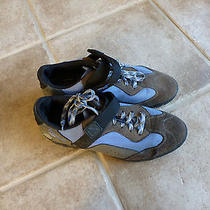 Reebokblue/gray/brown Velcro Biking Shoes  With Cleats  Sz 10 Photo