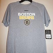 Reebok Boston Bruins Boys' Gray Quick-Dry T-Shirt Size L Nwt Photo