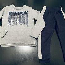 Reebok Boys Outfit Size 6 Sweatshirt and Joggers Gray/blue Euc Photo