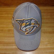 Reebok Center Ice Nhl Nashville Predators Hockey Team Sabretooth Logo Men's Hat Photo