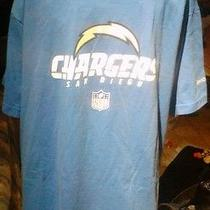 Reebok Chargers T-Shirt With Bolt in Front Size M Photo