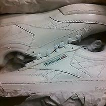 Reebok Classic Club C Wide 2e Sneakers Mens 9 White 21195 Nib Photo