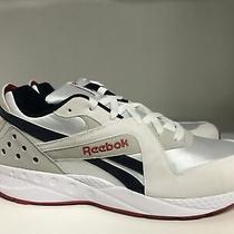 Reebok Classic Pyro Running Shoe White/skull Grey/navy/red Men's Size 13  Photo