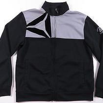 Reebok Crossfit Black & Grey Athletic Full Zip Jacket Work Out Running Euc L  Photo
