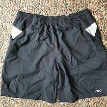 Reebok Crossfit Lined Shorts Men's Xl Drawstring Playdry Pocket Black Photo
