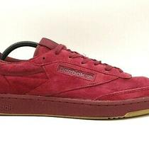 Reebok Deep Red Suede Leather Casual Lace Up Classic Sneakers Shoes Men's 12 Photo