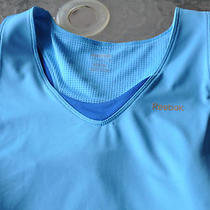 Reebok Dry Fit Play Dry Tank Blue Size L Large Built in Sports Bra Nwt Photo