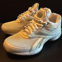 Reebok Easy Tone White Silver Leather Athletic Shoes Women's Size 6. Photo