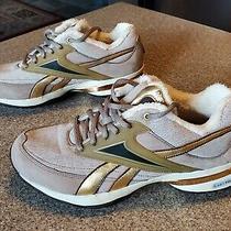 Reebok Easytone Sneakers Womens Sz 7.5 Tan Gold Lace Up Toning Walking Shoes Photo