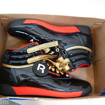 Reebok Freestyle Hi Classic Marvel Spider Black Patent Red Gold Size 7 - New Photo