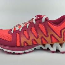 Reebok Girl's Zigtech Zigkick Tahoe Running Shoes Size 4 Pink Orange Nwob Photo