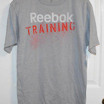 Reebok Gray Short Sleeve Reebok Training T Shirt Top Size Medium Photo