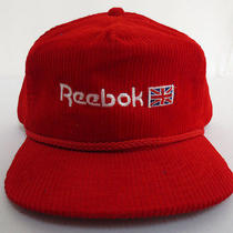 Reebok Hat Cap Zipback Vintage Retro Vtg Crew Mens Amapro Fashion Corduroy Rare Photo