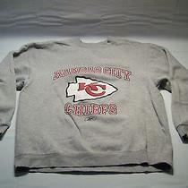 Reebok Kansas City Chiefs Graphic Long Sleeve Crewneck Sweatshirt Men's Size L Photo