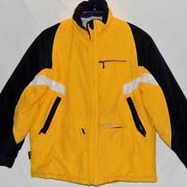 Reebok Kids Boys Yellow Color-Block Winter Puffer Jacket Size Large (14-16) Photo