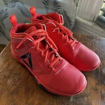 Reebok Kids Mid-Rise Red Athletic Sneakers Size 4 Photo