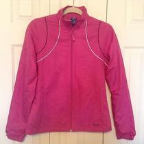 Reebok Ladies Size S Pink Windbreaker Like New Excellent Condition Photo