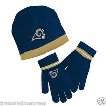 Reebok Licensed Nfl Youth Knit Hat & Gloves Set  St. Louis Rams  Size 8 - 20   Photo