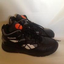 Reebok M41943 Reebok Pump D Time Black Leather Mens Sz 9 115 Basketball Shoes Photo