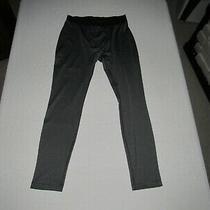 Reebok Men's Gray Black Base Layer Fitted Pants Size L Waist 30