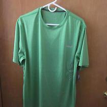 Reebok Men's L Green Short Sleeve Performance Crew Neck Shirt Nwt Photo