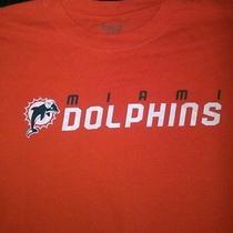 Reebok Men's Miami Dolphins Orange T-Shirt Size L Photo