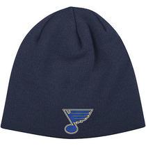 Reebok Men's St. Louis Blues Uncuffed Knit Hat  Navy Photo