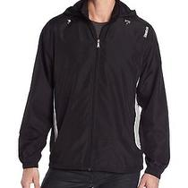 Reebok Men's Woven Black Jacket With Hood