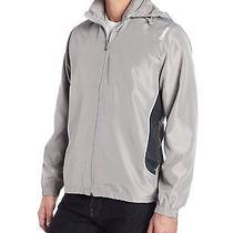 Reebok Men's Woven Gray Jacket With Hood