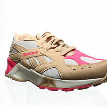Reebok Mens Aztrek Bare Beige/white/acid Running Shoes Size 6 Photo