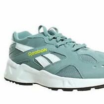 Reebok Mens Aztrek Teal Fog/go Yellow/white/black Running Shoes Size 8.5 Photo