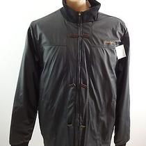 Reebok Mens Black Polyester Faux Leather Insulated Jacket Size Xl  Photo