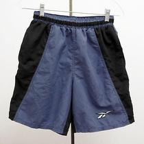 Reebok Mens Sz P/s Black Blue Swim Trunks Athletics Shorts Summer Small Photo