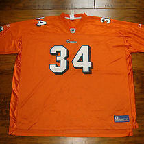 Reebok Miami Dolphins 34 Ricky Williams 5xl Alternate Orange Football Nfl Jersey Photo