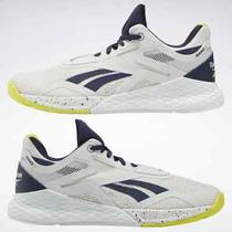 Reebok Nano X Women's Training Shoes  True Grey 1 / Vector Navy / Chartreuse Photo