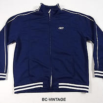 Reebok Navy Blue White Full Zip Athletic Track Jacket Running Sport Shaq 20470 Photo