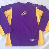 Reebok Nba Fusion Los Angeles Lakers Long Sleeve Youth Medium (10-12) Nice Photo